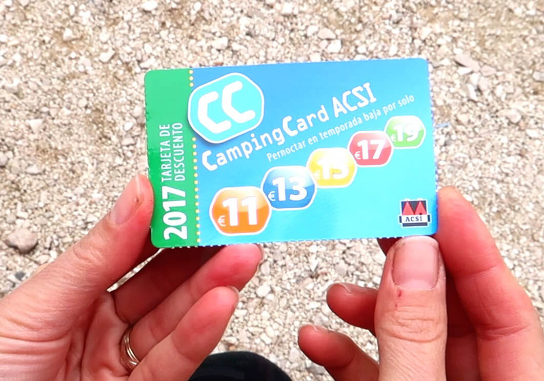 Camping Card ACSI, Una tarjeta para ahorrar en los campings