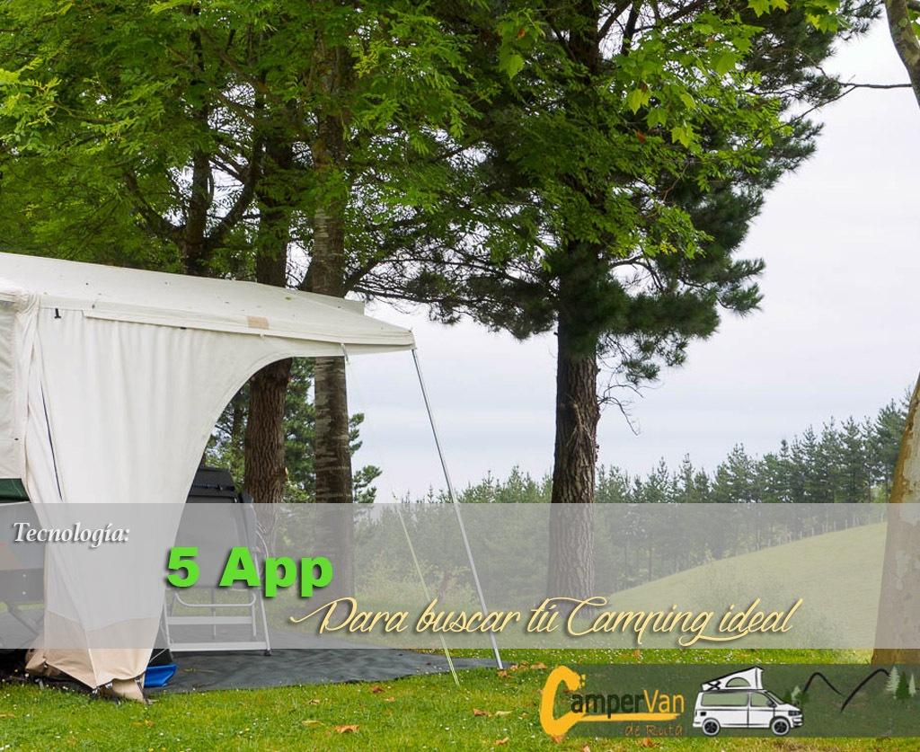 5 mejores aplicaciones buscar Camping ideal