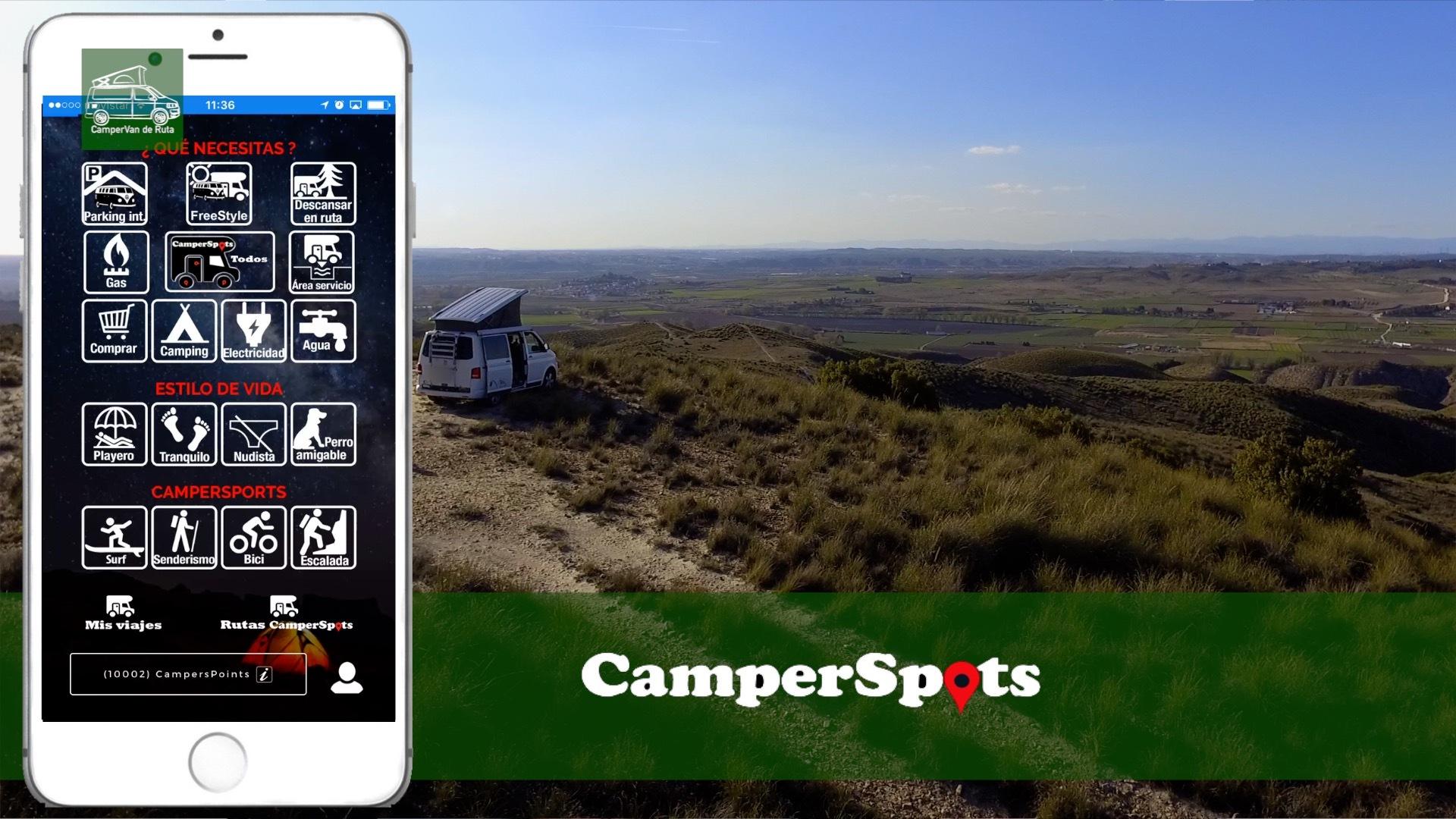 Camperspots, la app definitiva para tu furgo camper o autocaravana